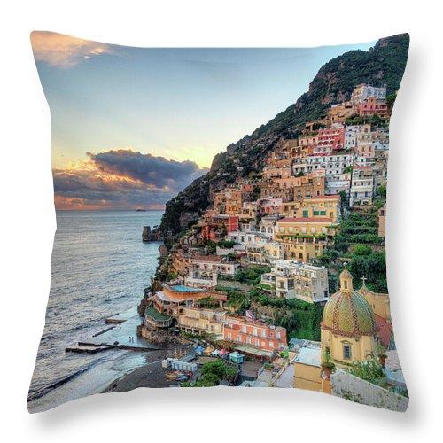 Amalfi Coast Throw Pillow featuring the photograph Italy, Amalfi Coast, Positano by Michele Falzone