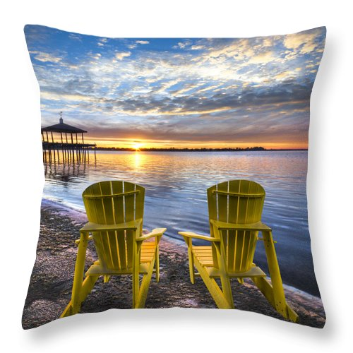 Boats Throw Pillow featuring the photograph It's 5 O'clock Somewhere by Debra and Dave Vanderlaan