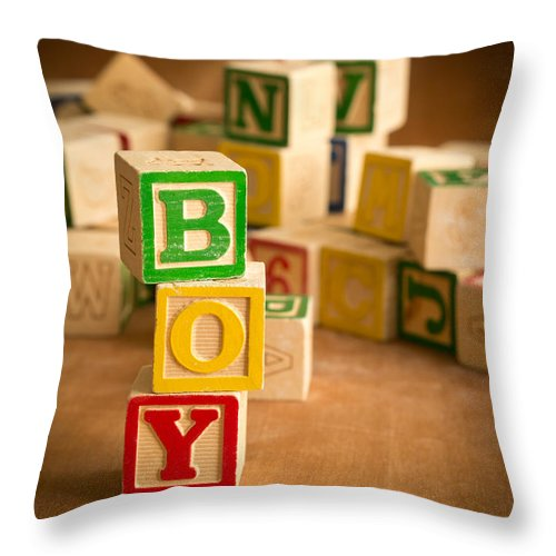 Abcs Throw Pillow featuring the photograph Its A Boy by Edward Fielding