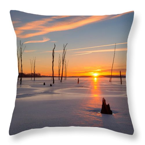 Frost Bite Throw Pillow featuring the photograph Its A New Day by Michael Ver Sprill