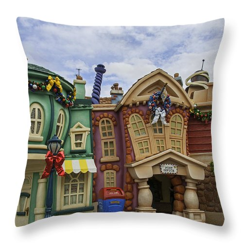 Throw Pillow featuring the photograph It's A Toontown Christmas by Lynn Bauer