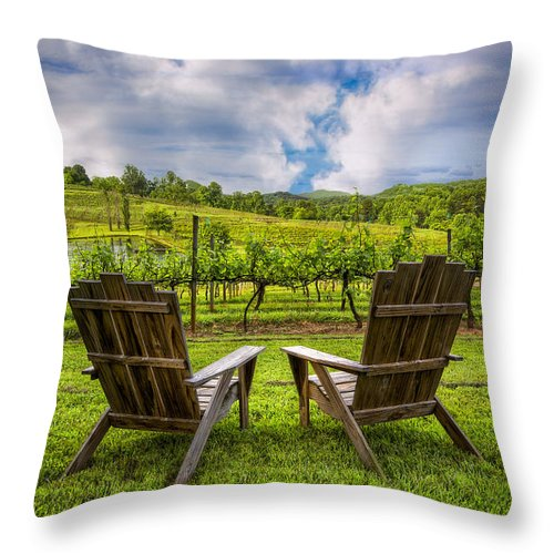 Appalachia Throw Pillow featuring the photograph It's Happy Hour by Debra and Dave Vanderlaan