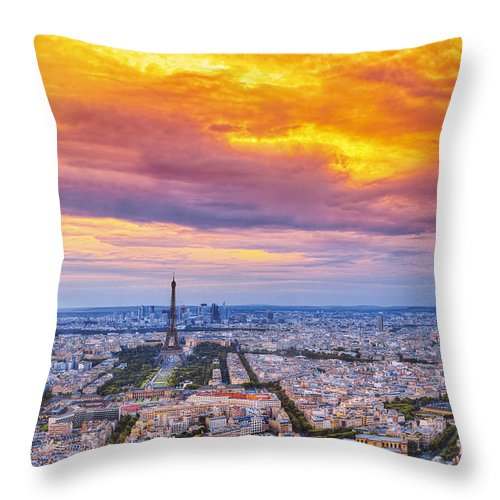 Paris Throw Pillow featuring the photograph J'aime Paris by Midori Chan