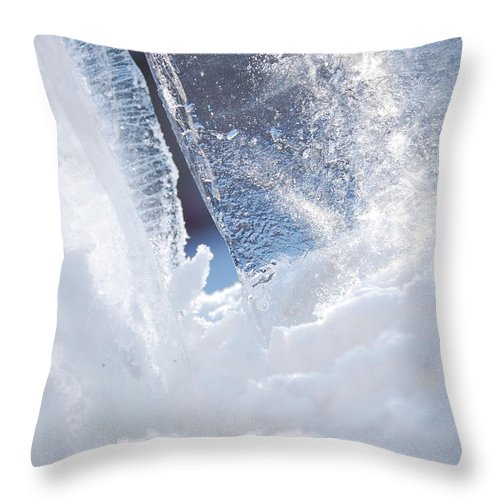 Gray Throw Pillow featuring the photograph Jammer Abstract Schism 001 by First Star Art
