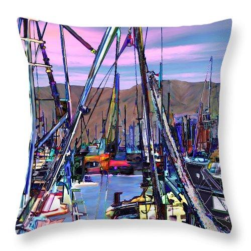 Harbors Throw Pillow featuring the photograph Jammin At Twilight by Kurt Van Wagner