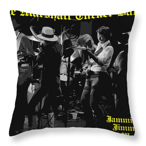 Marshall Tucker Band Throw Pillow featuring the photograph Jamming With Jimmy Hall by Ben Upham