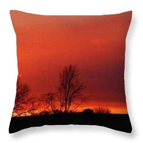 Sunset Throw Pillow featuring the photograph January Evening Skies by J L Zarek