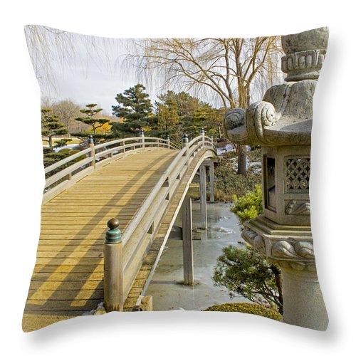 Japanese Garden Throw Pillow featuring the photograph Japanese Garden by Robert Storost