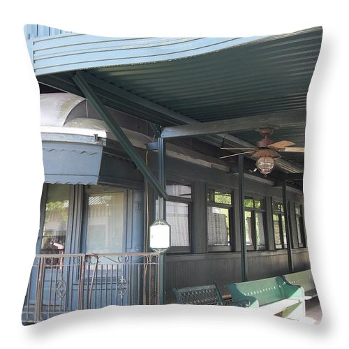 Railroad Cars Throw Pillow featuring the photograph Jay Gould Private Rr Car by Donna Wilson