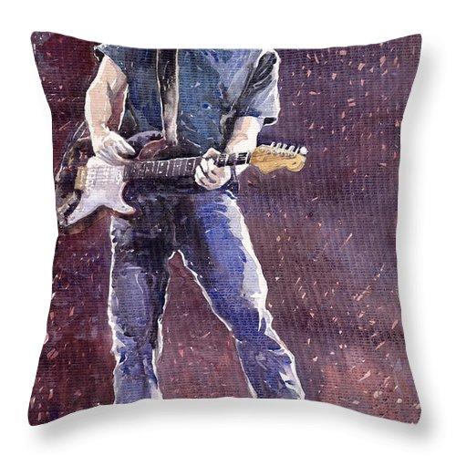 Jazz Throw Pillow featuring the painting Jazz Rock John Mayer 01 by Yuriy Shevchuk