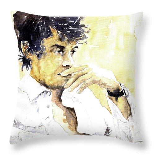 Jazz Throw Pillow featuring the painting Jazz Rock John Mayer 04 by Yuriy Shevchuk