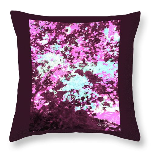 Canvas Prints Throw Pillow featuring the painting Jazzy Razzberry by Cindy McClung