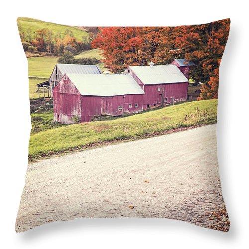 Fielding Throw Pillow featuring the photograph Jenne Farm Vermont by Edward Fielding