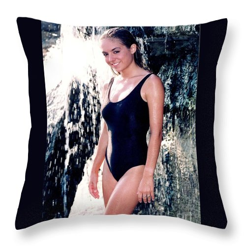 Model Throw Pillow featuring the photograph Jenny 1 Piece by Gary Gingrich Galleries
