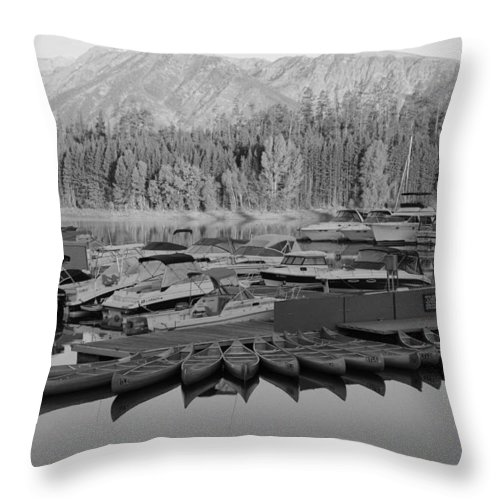 Jenny Lake Throw Pillow featuring the photograph Jenny Lake Wyoming  by Kathy Sampson
