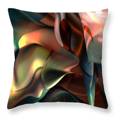 Painter Throw Pillow featuring the painting Jerome Bosch Atmosphere by Christian Simonian