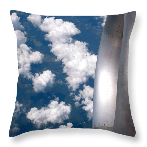 Donna Proctor Throw Pillow featuring the photograph Forty Thousand Feet by Donna Proctor
