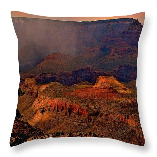 Nature Throw Pillow featuring the photograph Jewel Of The Grand Canyon by Jim Hogg