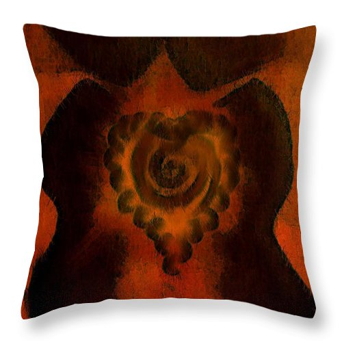 Lovers Throw Pillow featuring the painting Jfx2013-017 by Emilio Arostegui