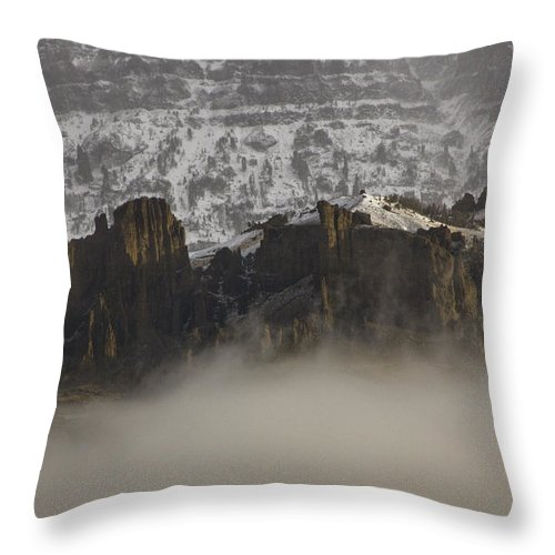 Jim Mountain Throw Pillow featuring the photograph Jim Mountain  #6516 by J L Woody Wooden
