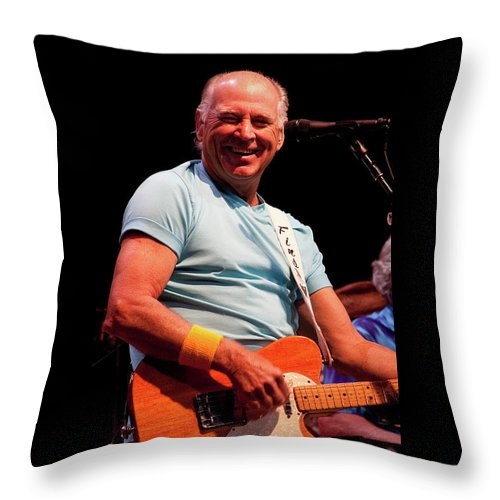 Jimmy Buffett Throw Pillow featuring the photograph Jimmy Buffett 5626 by Timothy Bischoff