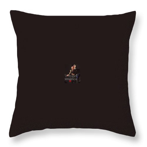 Joe Cocker Throw Pillow featuring the photograph Joe Cocker by John Telfer