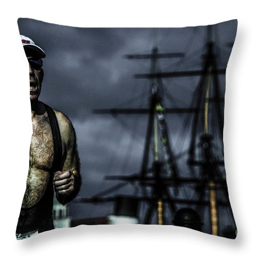 Jogging Throw Pillow featuring the photograph Jog On by Waite