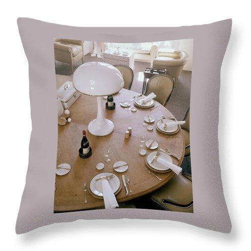 John Dickinson's Dining Table Throw Pillow