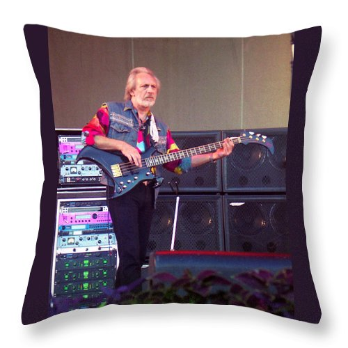 John Entwistle Throw Pillow featuring the photograph John Entwistle The Who by Sheryl Chapman Photography