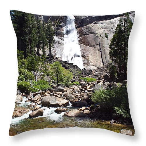 Falls Throw Pillow featuring the photograph John Muir Trail by Brian Williamson