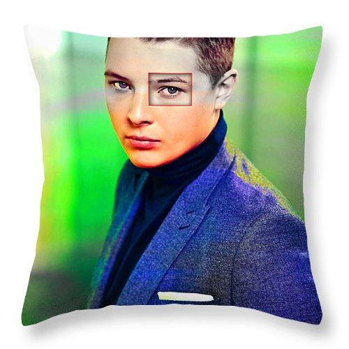 John Newman Throw Pillow featuring the mixed media John Newman by Marvin BlaineJohn Newman