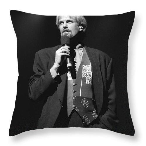 Pianist Throw Pillow featuring the photograph Musician John Tesh by Concert Photos