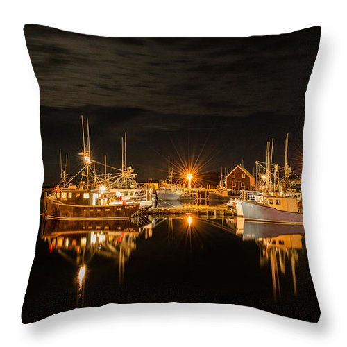 Boats Throw Pillow featuring the photograph John's Cove Reflections by Garvin Hunter