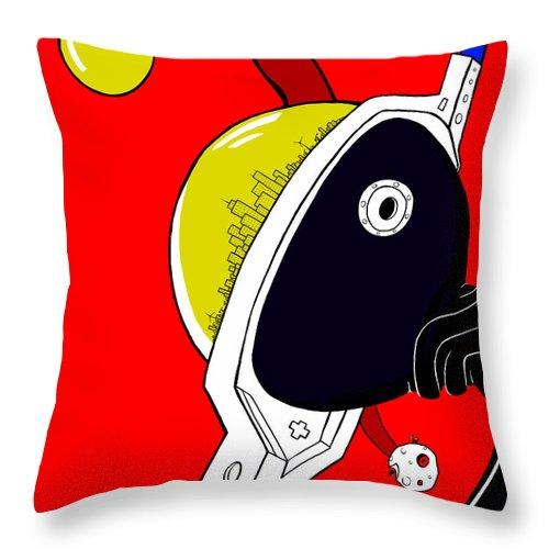 Earth Throw Pillow featuring the digital art Joker Of Denial by Craig Tilley