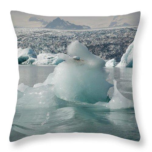 Tranquility Throw Pillow featuring the photograph Jokularsson Glacier Lagoon by Jamie Gordon