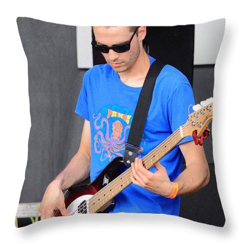 Josh Wicker Of Boomslang Rw2k14 Throw Pillow featuring the photograph Josh Wicker Of Boomslang Rw2k14 by PJQandFriends Photography