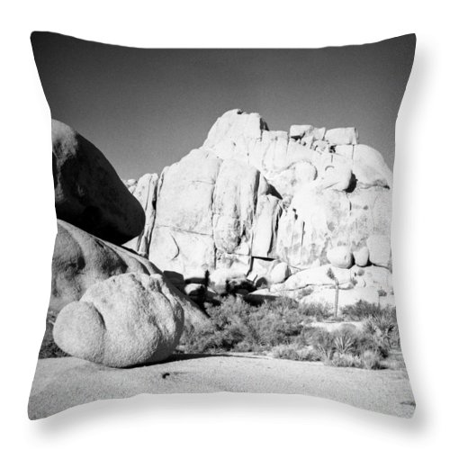 Diana F+ Throw Pillow featuring the photograph Joshua Tree Rock Formation by Alex Snay