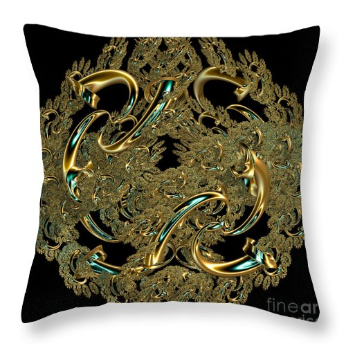 Fractal Throw Pillow featuring the photograph Journey by Sara Raber