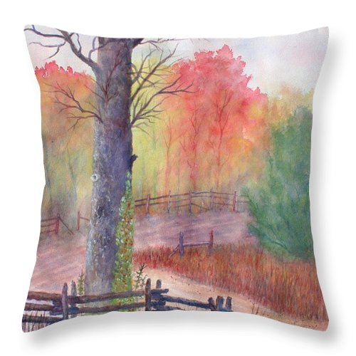 Fall Throw Pillow featuring the painting Joy of Fall by Ben Kiger