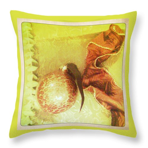 Ornament Throw Pillow featuring the photograph Joy by Shannon Grissom