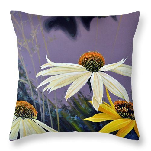 Botanical Throw Pillow featuring the painting Jubilant by Hunter Jay