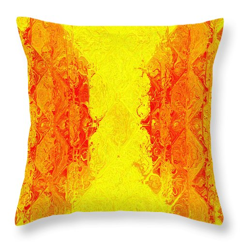 Abstract Throw Pillow featuring the digital art Juice by Charmaine Zoe