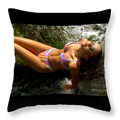 Model Throw Pillow featuring the photograph Julie Lay Waterfall by Gary Gingrich Galleries