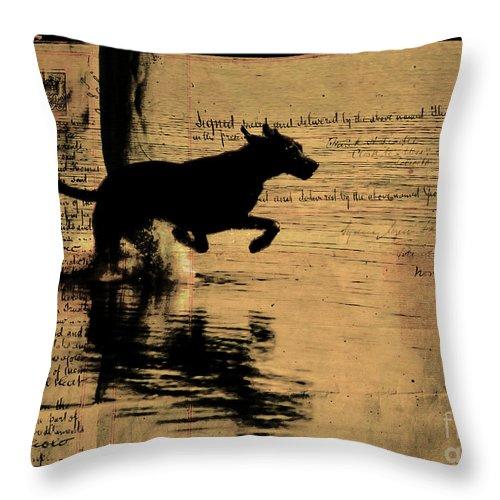 Dog Throw Pillow featuring the photograph Jumping by Ben Yassa