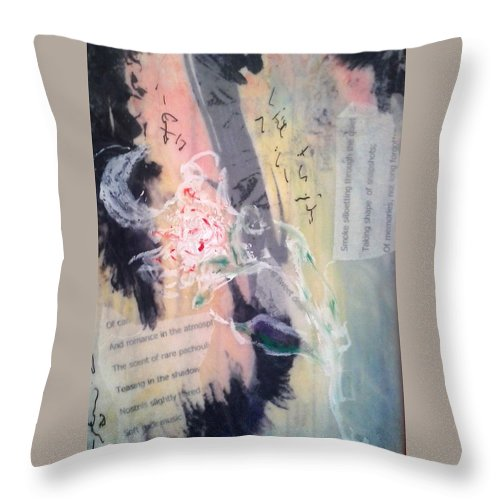 Throw Pillow featuring the mixed media Junx by Lesley Fletcher