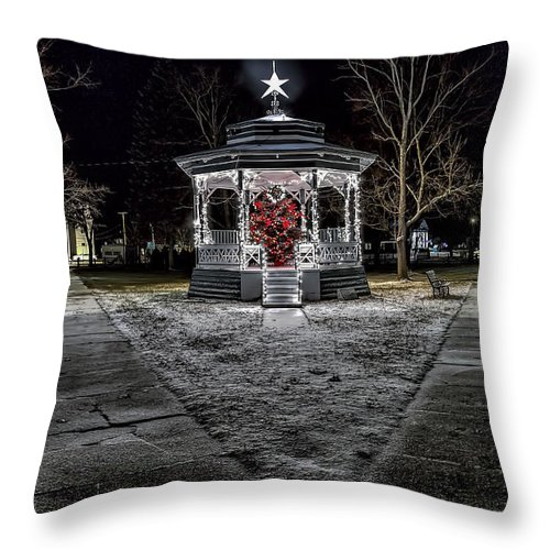 Townsend Ma Throw Pillow featuring the photograph Just A Dusting by Larry Richardson
