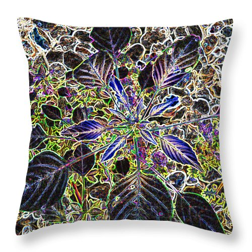 Weed Throw Pillow featuring the digital art Just A Weed by Lovina Wright
