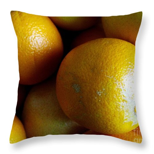 Citrus Throw Pillow featuring the photograph Just Citrus by Margaret Newcomb