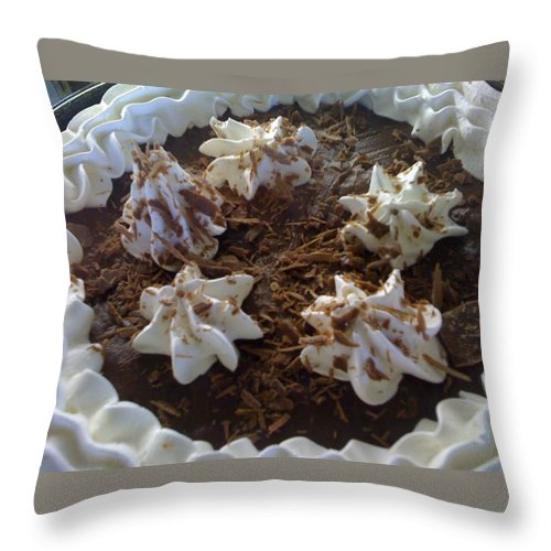 Chocolate Throw Pillow featuring the photograph Just Dessert by Shannon Grissom