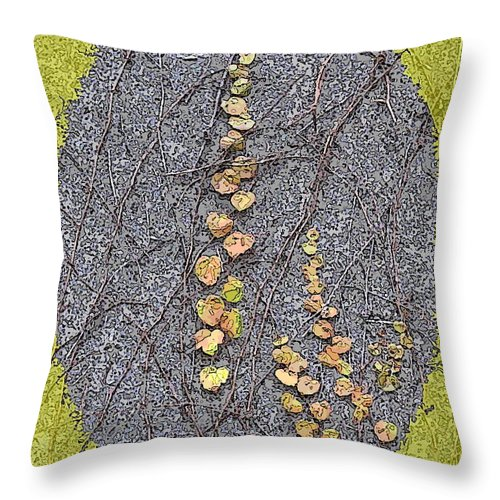 Ivy Throw Pillow featuring the digital art Just Hanging Around 1 by Tim Allen